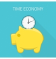 Time economy concept vector image