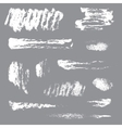 Collection of ink painted brushstrokes vector image