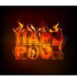 burning hard rock vector image vector image