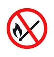 no fire sign icon vector image