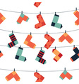 pattern of socks vector image