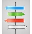 Color navigashion boards vector image vector image