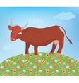cow summer vector image vector image