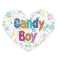 candy boy greeting card vector image