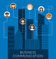 Business communication concept in flat design vector image
