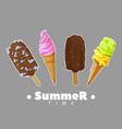 ice cream summer set vector image