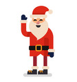 santa claus on white background vector image