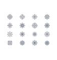 Snowflake icons 4 vector image