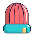 winter hat cap icon cartoon style vector image