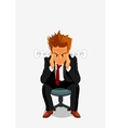Young man exploding with anger and rage vector image
