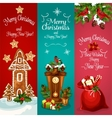 New Year and Christmas Day holidays banner set vector image