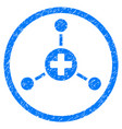 medical center rounded grainy icon vector image