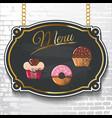 set design elements chalkboard menu sample vector image