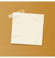 crumpled note on brownpaper vector image vector image