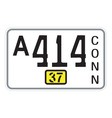 Connecticut 1937 license plate vector image