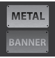 metal texture banners replaceable text eps10 vector image