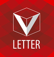 logo the letter V in the form of a cube vector image vector image