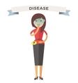 Illness girl vector image