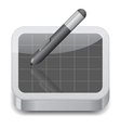Icon for pen tablet vector image