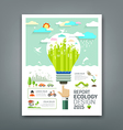Annual Report light bulb environment creative vector image
