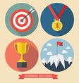 Business success flat style icons vector image