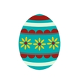 Colorful easter egg icon vector image
