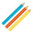 colors pencils icon stock vector image