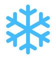 flat snowflake low temperature sign vector image