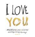 ilove you hand lettering vector image