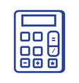 line financial calculator to accounting business vector image
