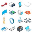 New technology icons set vector image