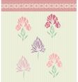 Vintage floral card background vector image