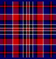 blue red check square pixel seamless pattern vector image vector image