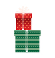 A boxes are piled up vector image vector image