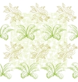 Seamless pattern flowers and plant vector image