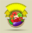 Dieting sticker vector image