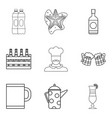 ale icons set outline style vector image