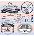 set of icons on a theme hair salon vector image
