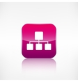 Network icon Application button vector image vector image