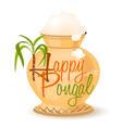 happy pongal symbol vector image vector image