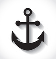 anchors on white background vector image