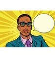 businessman says comic cloud vector image