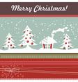 Cartoon Christmas card with xmas tree vector image
