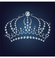 Crown made a lot of diamonds vector image