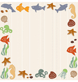 Frame with sea life vector image