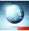 globe information network concept vector image