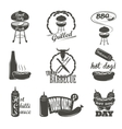 Hot Dog Vintage Typography Labels and Design vector image