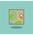 Map icon with pointer vector image