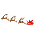 new year christmas abstract silhouettes of deer vector image