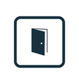 open door icon Rounded squares button vector image
